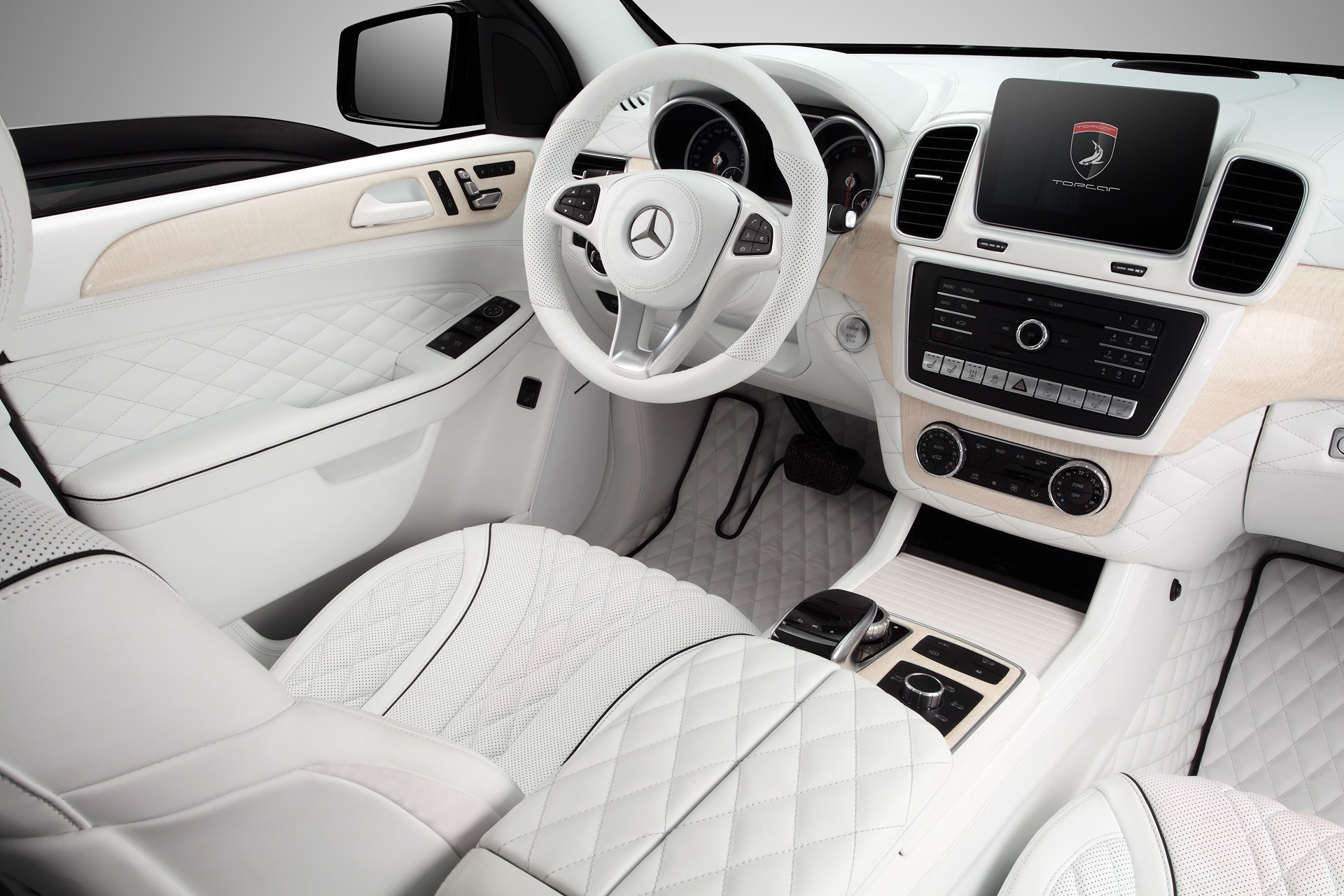 Mercedes Benz Interior >> Mercedes Benz Gle Guard White Interior Topcar
