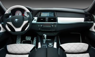 BMW CLR X 650 Lumma Design white interior