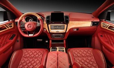GLE Coupe INFERNO. Red Crocodile Interior.