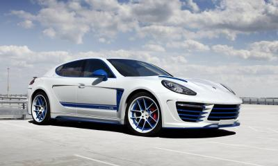 Porsche Panamera Stingray exclusive blue detailing