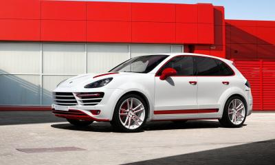 Porsche Cayenne TopCar GT (958.1). White and Red.