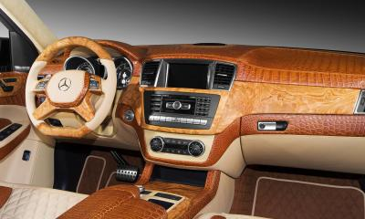 Interior crocodile Mercedes Benz ML6.3 AMG 2013