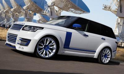 Range Rover Lumma CLR R White and Blue