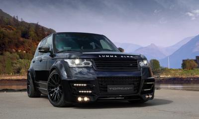 Range Rover Vogue 2013 Lumma CLR R black in Russia